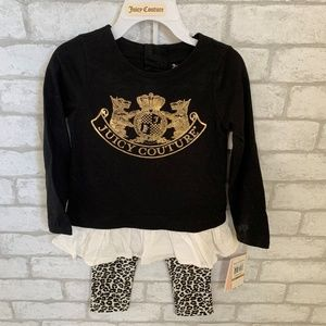 NWT Juicy Couture leopard print two piece set - 3T